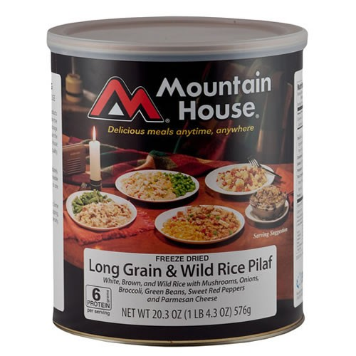Mountain House Long Grain and Wild Rice Pilaf in #10 Can