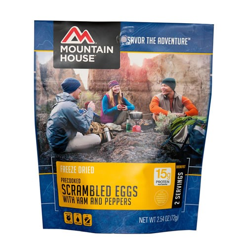 Mountain House Eggs with Ham and Peppers Pouch