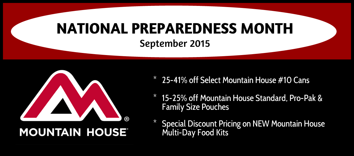 National Preparedness Month - Mountain House Specials