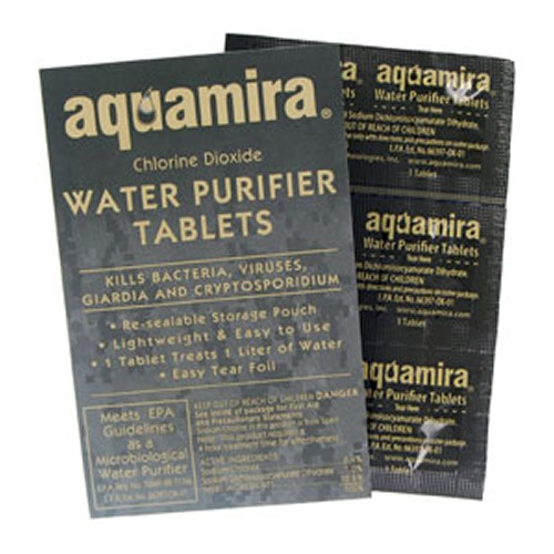Aquamira Military Tactical Water Purifier Tablets