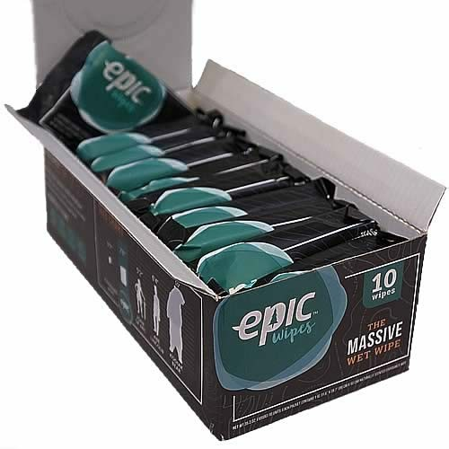 Epic Wipes Case Of 10 Individually Wrapped Massive Wet