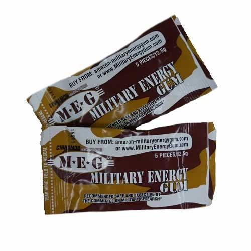 MRE Snack MEG Military Energy CINNAMON GUM (12-pack) (2017)