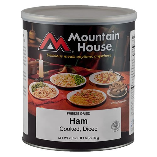 Mountain House Freeze Dried 6 Food Pouches -Italian Style Pepper Steak Free Ship See more like this. 6 - # 10 Cans - Breakfast Skillet - Mountain House Freeze Dried Emergency Food. 6 -Mountain House Freeze Dried Food Pouches-Scrambled Eggs with Ham and Peppers See more like this.