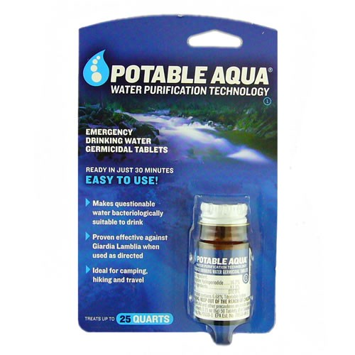 does potable aqua work for all drugs